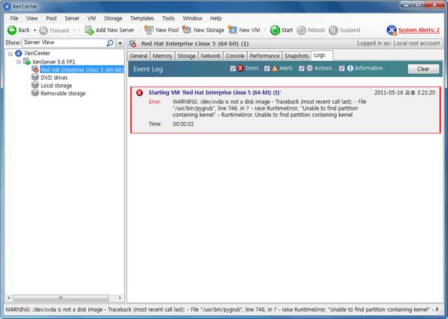 160AD44F4DD0C4E6150D28 Monomodo de inicialização do Linux da Citrix XenCenter - inicialização senha de root