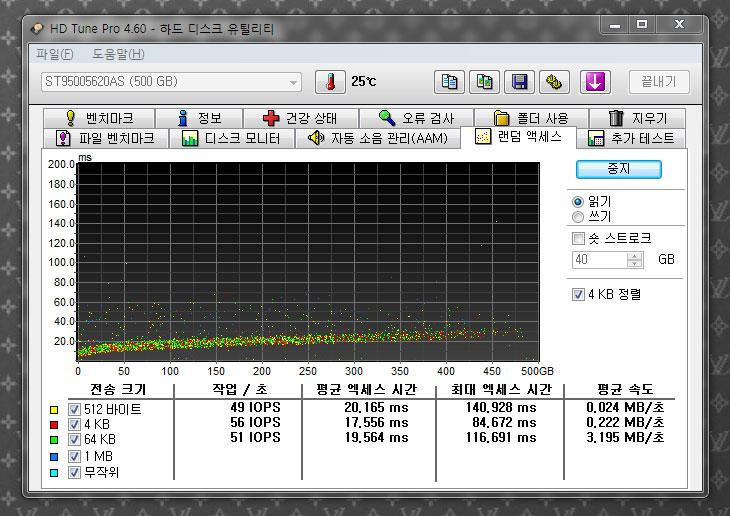 HDtune, HD tune, HD Tune Pro, 하드튠, 에이치디튠, 디스크툴, 디스크점검, 디스크배드, 배드섹터, bad, bad sector, 벤치마크, 벤치마크툴, IT, 컴퓨터, 점검, 선정리, 다운로드, 저소음, dB, 고성능, 랜덤 엑세스, ms, HD Tune Pro 4.60 포터블 한글판 다운로드
