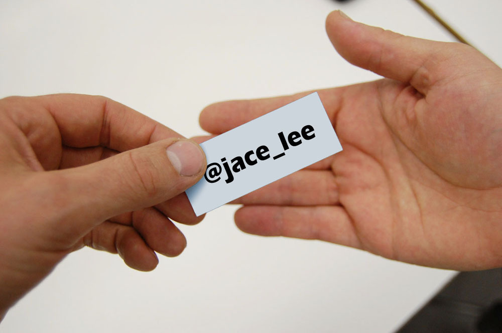 twitter name card