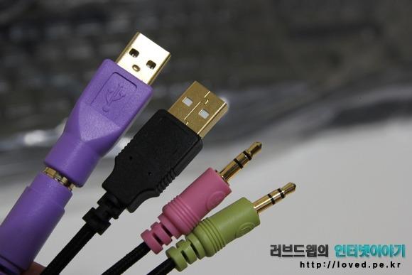 제닉스 Tesoro M7 LED SE 기계식 키보드 연결 단자