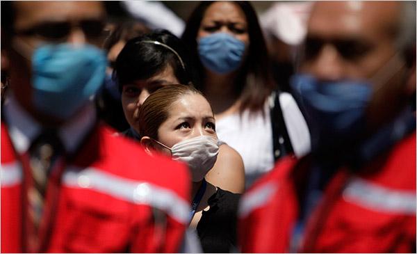 돼지 인플루엔자 공포가 전세계로.. (출처: NYC Times)
