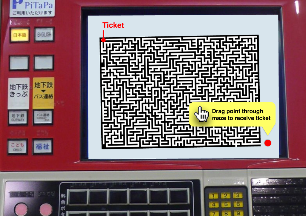 Game-like Application UI - Imaginary Ticket Vending Machine
