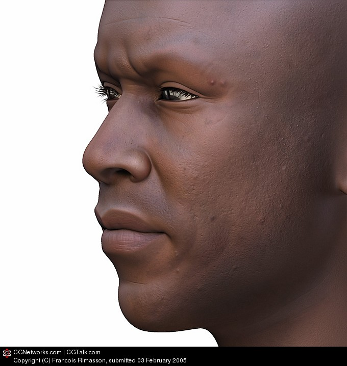 Painting unlit textured EBONY character