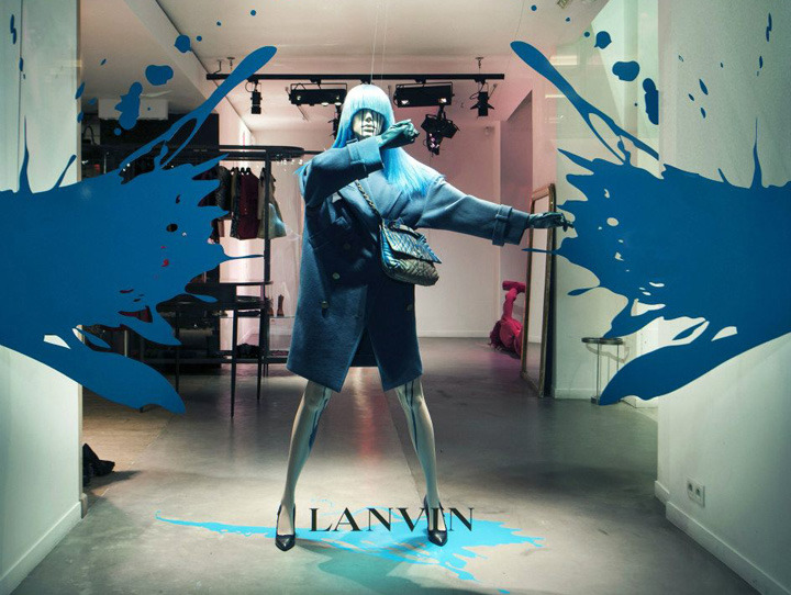 Interior Exhibition Vmd Lanvin Splash Windows Paris