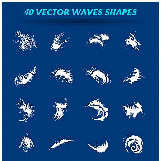 40가지 웨이브(Wave) 백터 디자인 리소스 무료 다운로드