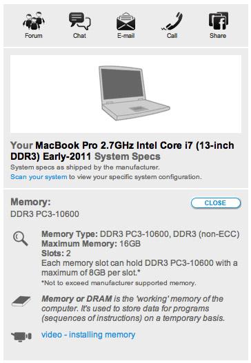 맥북프로 최대 메모리 용량 확인 / MacBook Pro Maximum Memory