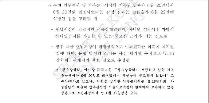 정수장학회 김지태기부날짜 조작 5-최필립 '김지태 구속상태서 기부' 시인