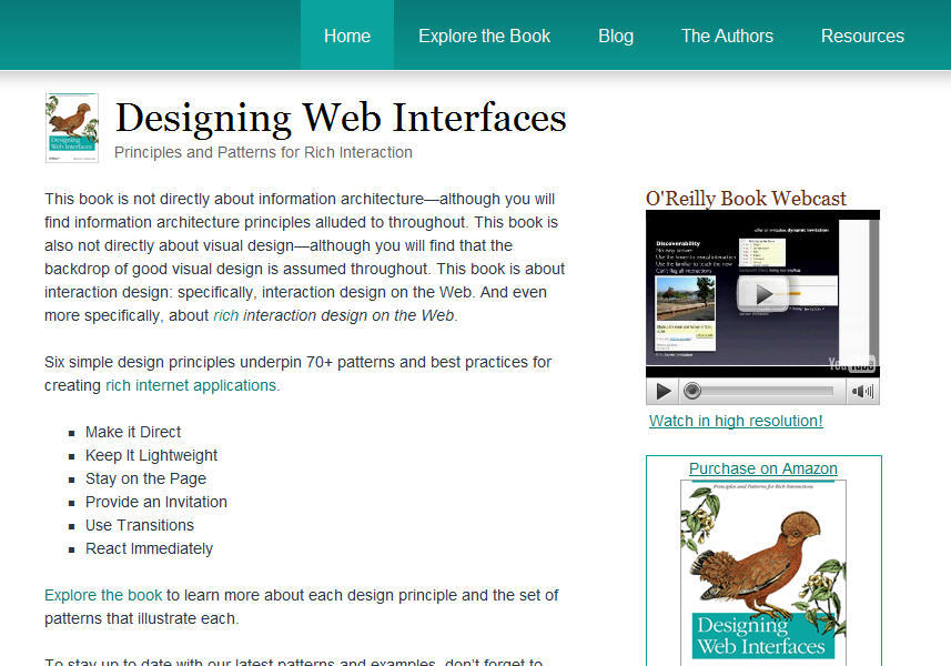 designingwebinterfaces.com 메인
