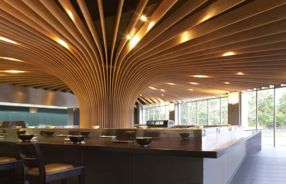 하나미 벚꽃나무 레스토랑 Koichi Takada Architects Tree
