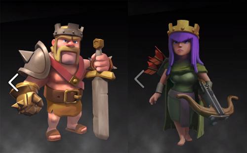 다음정류장 :: Barbarian King과 Archer Queen의 등장 _ Clash of clans