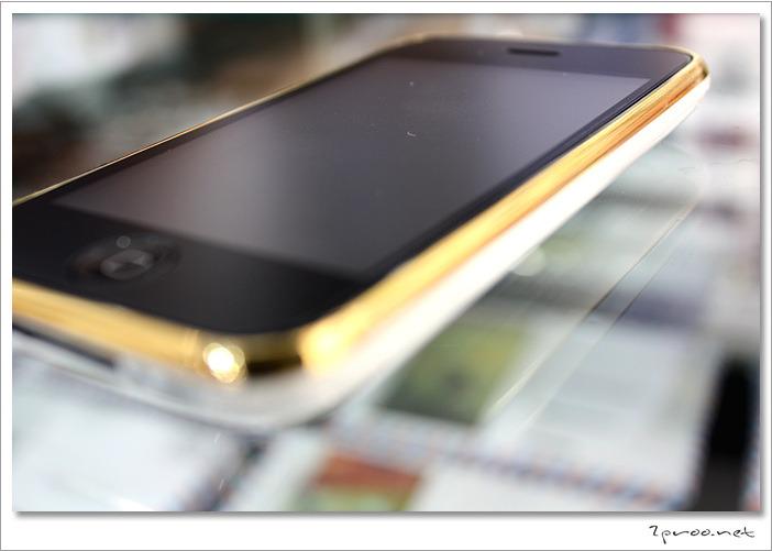 금도금된 화이트 아이폰