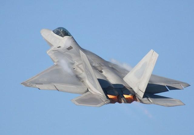 미 공군 F-22랩터, 연평도 사격훈련시 한반도 출격!