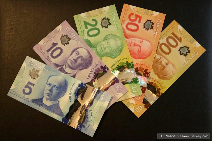 캐나다 화폐 소개 지폐(notes)