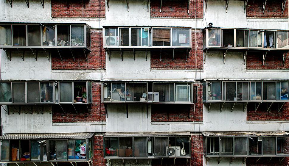 회현동 시범아파트-재밌는 모양의 아파트