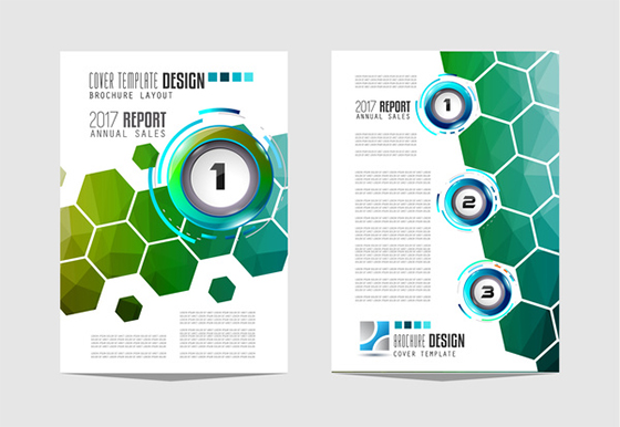 Business flyer brochure cover template vector 14