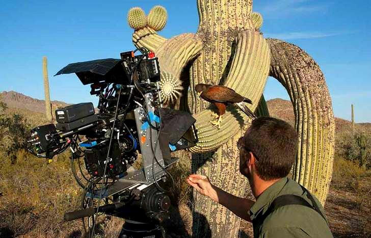 아이맥스 3D 카메라로 촬영하는 모습입니다