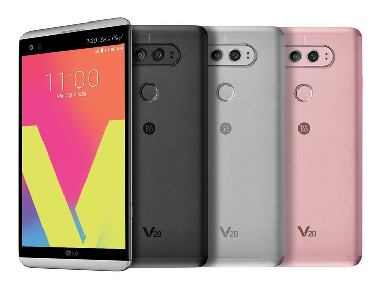 LG V20 티탄, 실버, 핑크