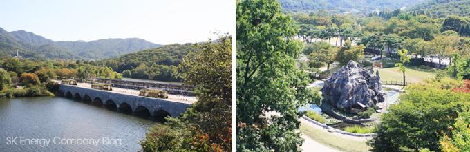 리프트를 타고 내려다본 서울대공원의 풍경입니다.