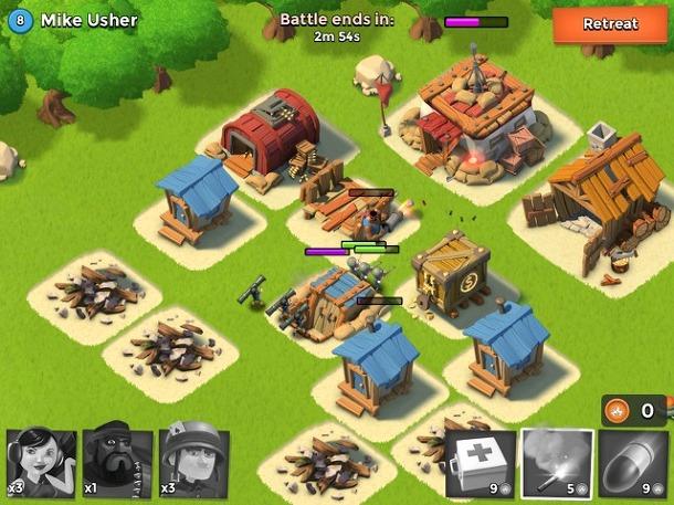 Boom Beach 아이폰 아이패드 전투 게임