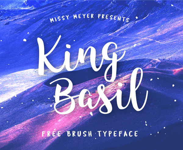 King Basil – Free Brush Font