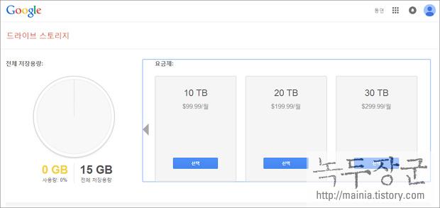 구글 드라이브 저장 공간과 가격 알아보기