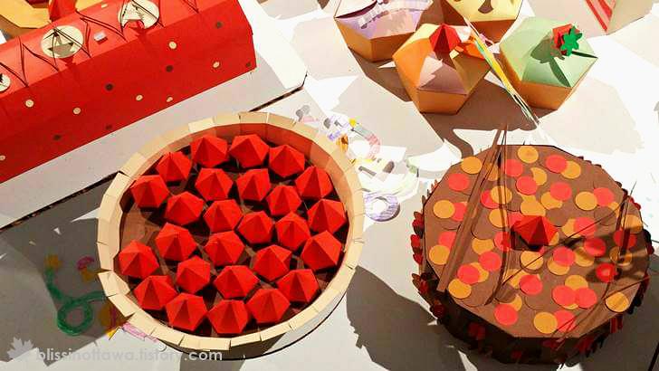 종이 미술 파이와 케이크 입니다