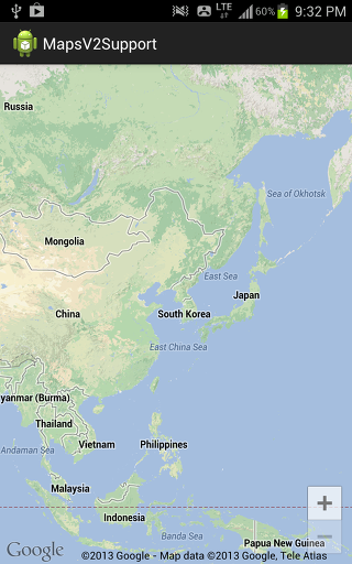 Google Maps Android API v2 사용하기 (ICS 이하 단말기 지원하기 : SupportMapFragment)