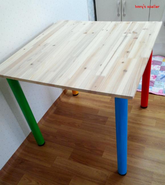 레인보우 식탁겸 다용도 테이블