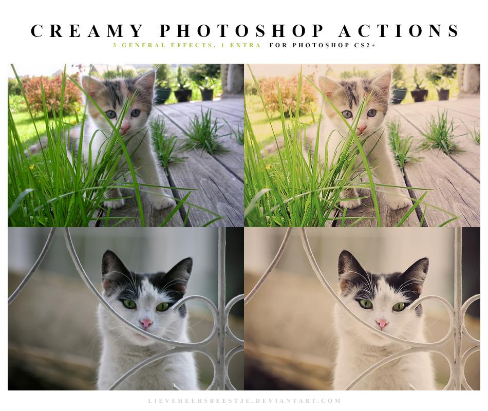 3 가지 크리미(creamy) 포토샵 액션 - 3 Free Creamy Photoshop Actions