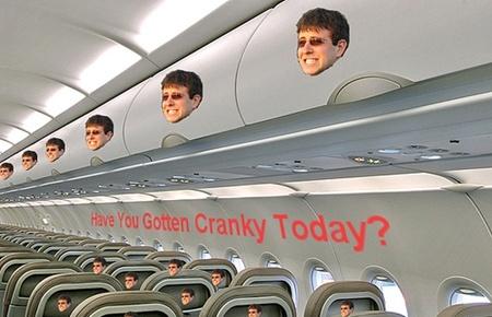 스피리트 항공, 기내 광고