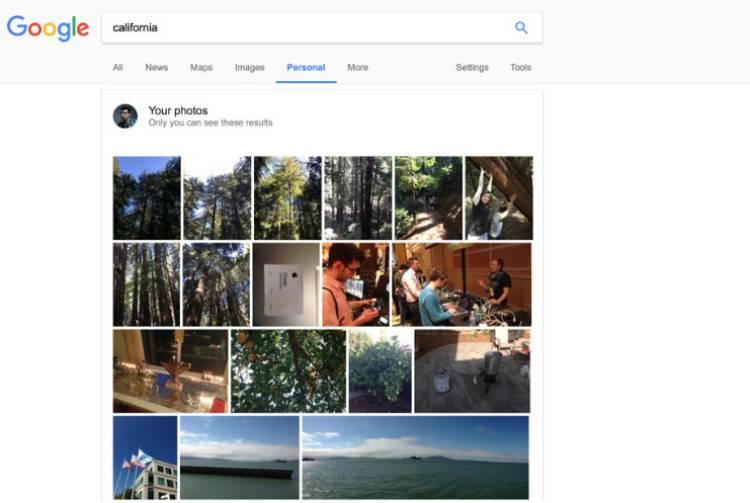 구글 검색결과에 지메일과 구글포토 결과 반영된다