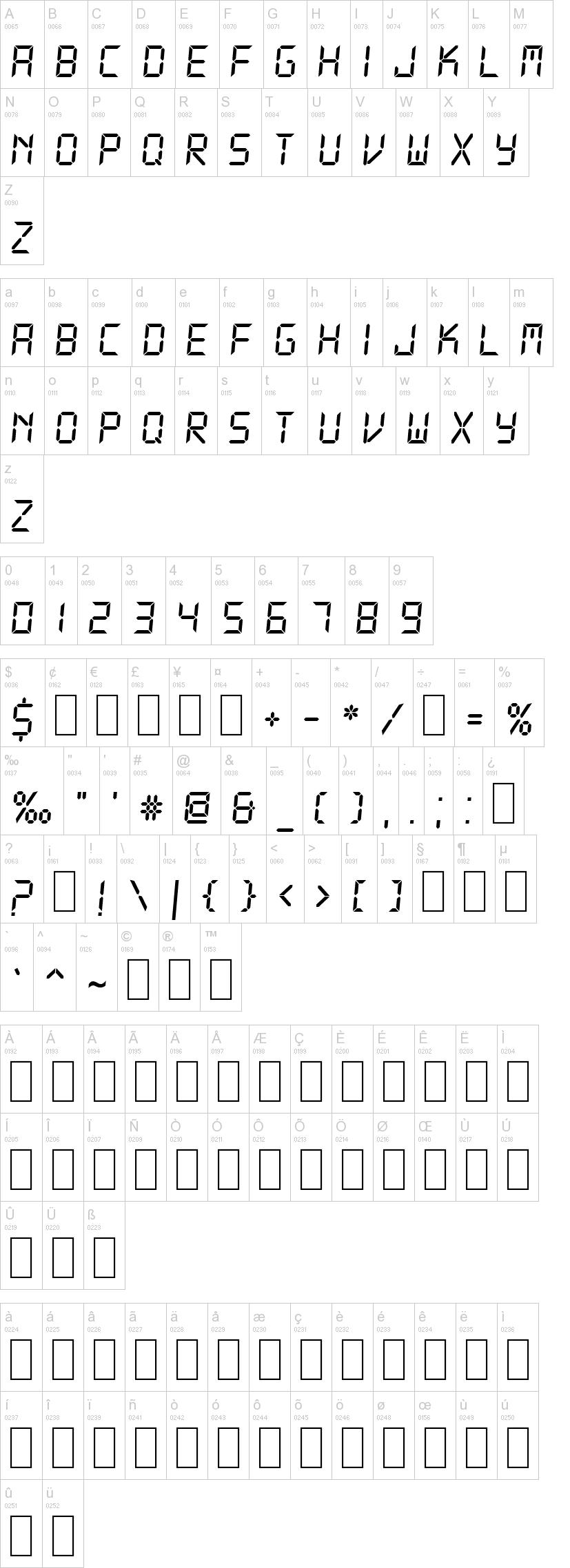 디지털 폰트/전자 계산기 폰트 다운로드
