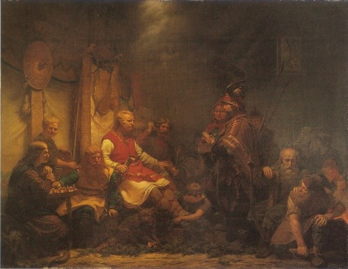 King Ella's Messengers before Ragnar Lodbrok's Sons by August Malmstrom