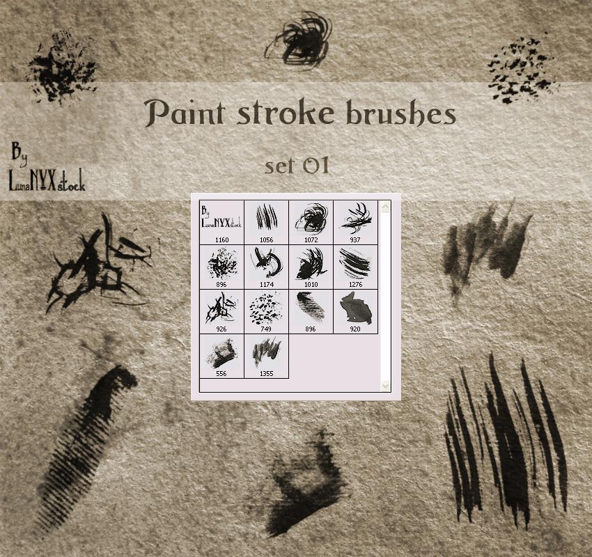 13 가지 무료 포토샵 페인트 스트로크 브러쉬 - 13 Free Photoshop Paint Stroke Brushes