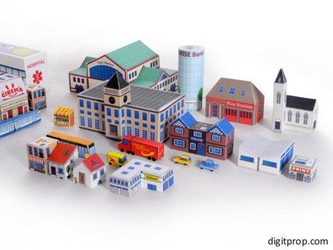 미니어처 도시 종이모형으로 만들기!