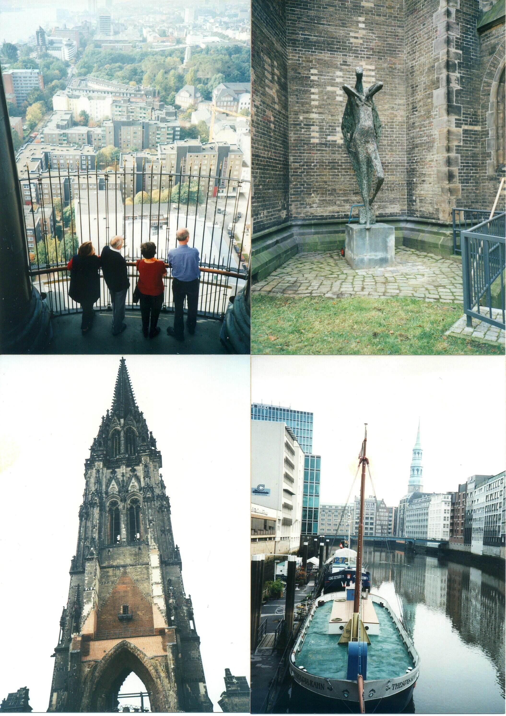2001년 독일 함부르크 돔 전망대에서
