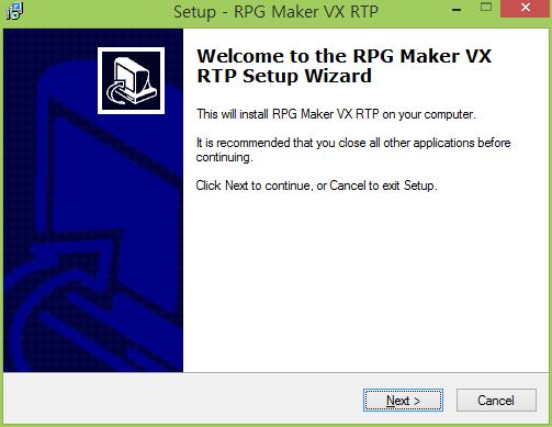 RPGVX RTP 실행 이미지
