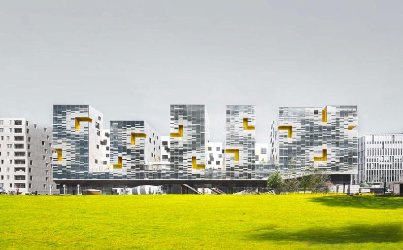 x tu architects nanterre apartment block france 5osa. Black Bedroom Furniture Sets. Home Design Ideas