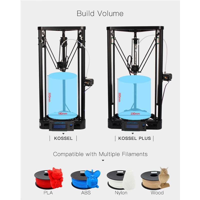 Anycubic 3d kossel  3D printer 구매 예정.