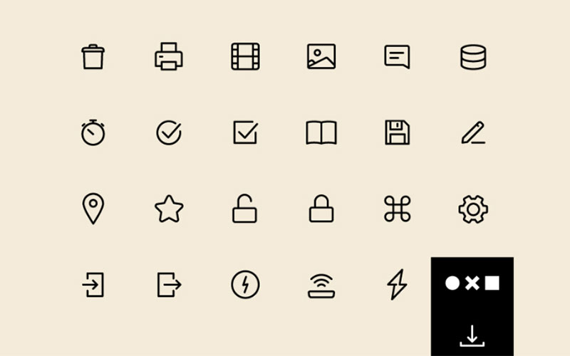 Free 100 Essential UI Icons