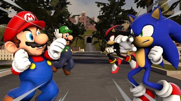 Sonic vs Mario rival
