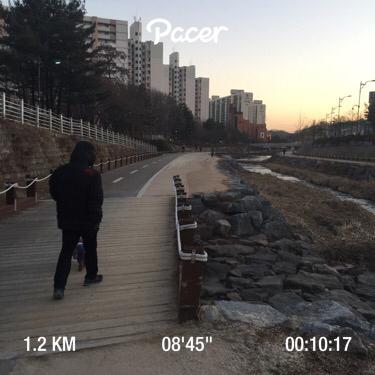 매일 10분 달리기 - 1.2km