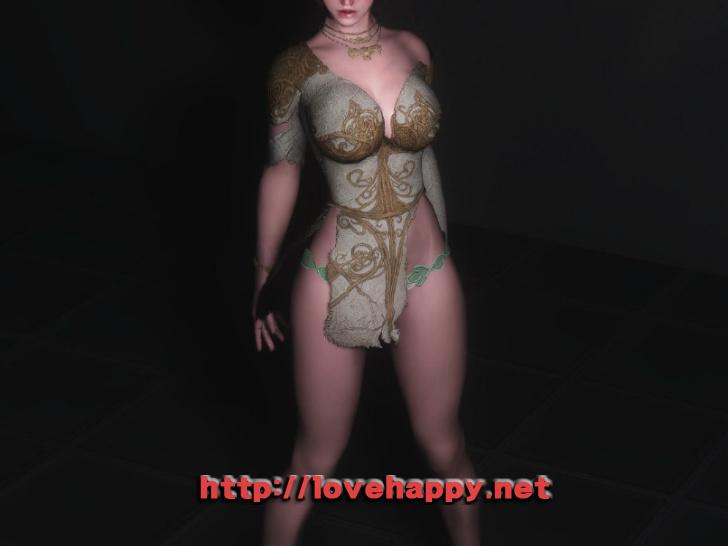스카이림 의상 - 로그 의상 elika outfit clothes hdt skyrim mod 006