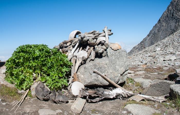 사진: 1942년 룬프쿤드 호수에서는 수백 개의 해골이 발견되었다. 수많은 의혹 속에서 내셔널 지오그래픽의 방송이 관심을 끌었다. [인도 해골호수의 비밀]