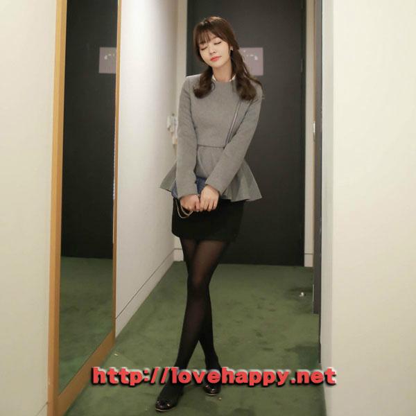 여성패션 자켓 사선지퍼 클로징으로 스타일리시 002