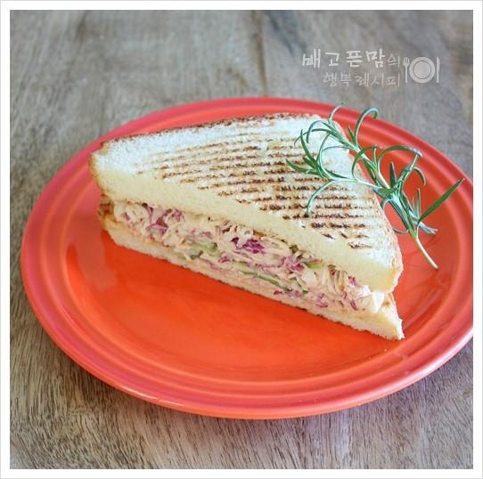 아이들 간식으로 만든....명란마요 닭가슴살 샌드위치