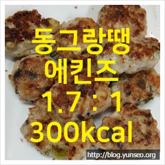 동그랑땡 - 에킨즈 1.7:1, 300kcal