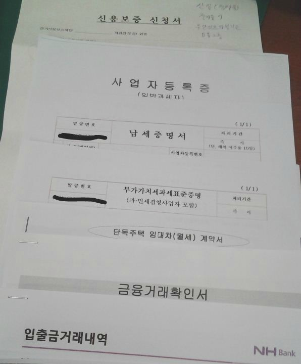소상공인대출, 신용보증재단, 신용보증서