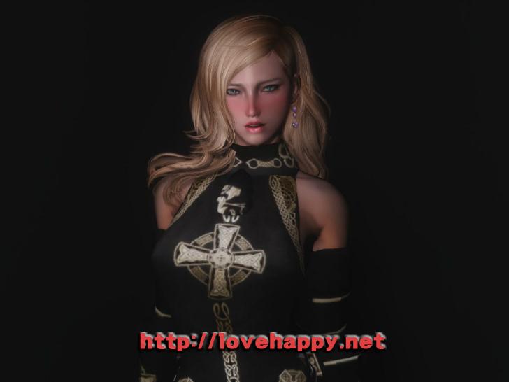 스카이림 의상 - 갑옷 의상 retexture throne hdt skyrim mod 001