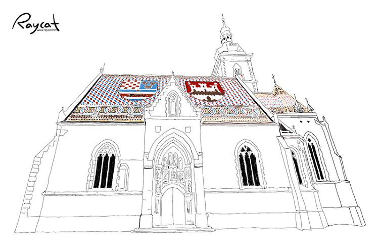펜스케치 성마르코 성당